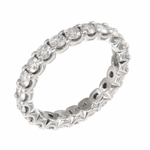 1.37 Carat Diamond Platinum Eternity Band Ring