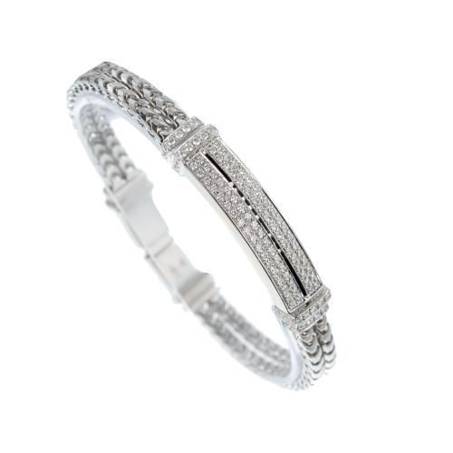 Di Modolo Quadria 1.03 Carat Diamond White Gold Two-Row Bracelet