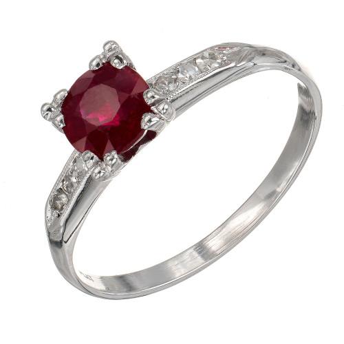 GIA Certified .81 Carat Diamond Platinum Engagement Ring