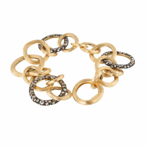 Marco Bicego Crystal Stone 18k Yellow Gold Bracelet