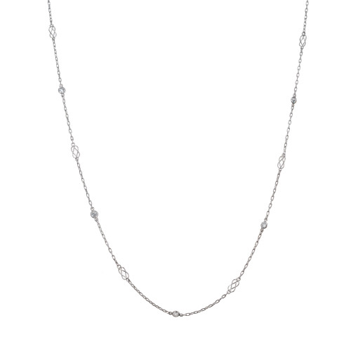 .21ct Vintage Diamond by The Yard Platinum Necklace