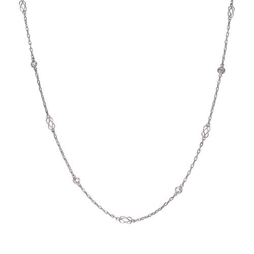 .24 Carat Diamond Platinum Art Deco Diamond by the Yard Necklace