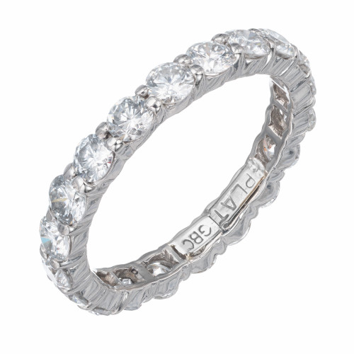 1.76 Carat Diamond Platinum Eternity Band Ring
