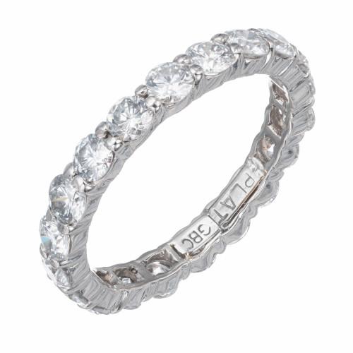 1.76 Carat Diamond Platinum Eternity Band Ring