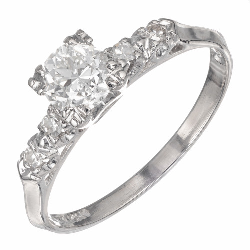 .57 Carat Diamond Platinum Engagement Ring