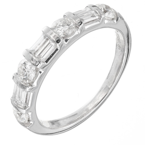 1.00 Carat Diamond Platinum Wedding Band Ring