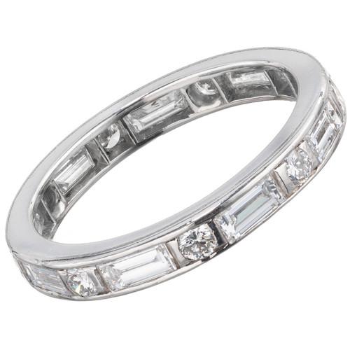 1.27 Carat Diamond Platinum Wedding Eternity  Band Ring
