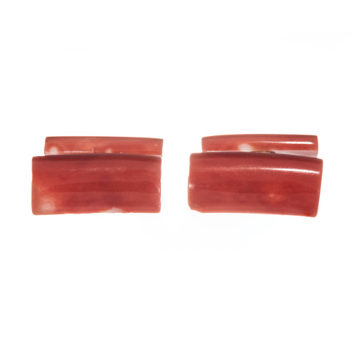 GIA Certified Vintage 1950 Natural Coral Cufflinks
