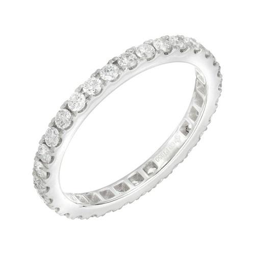 0.77 Carat Diamond Platinum Eternity Band Ring