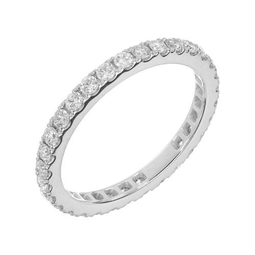 0.75 Carat Diamond Platinum Eternity Band Ring
