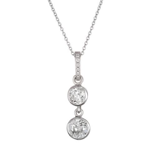 .98 Carat Diamond Platinum Pendant