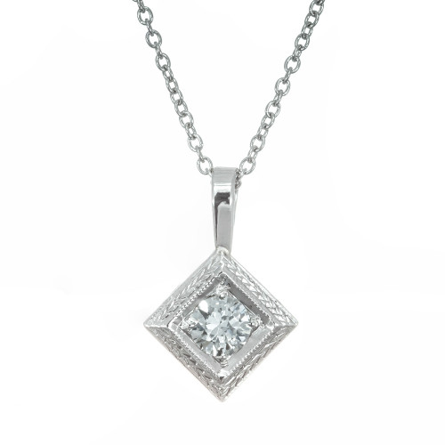 .35 Carat Diamond Platinum Pendant Necklace