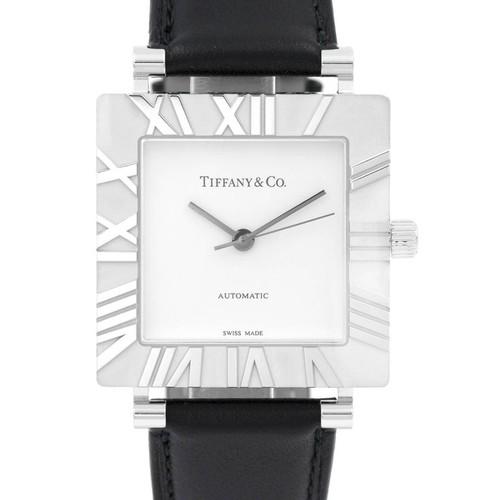 Tiffany & Co. Sterling Silver Square Atlas Wristwatch