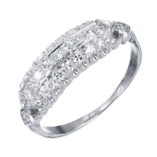 Granat Brothers .30 Carat Diamond Domed Platinum Wedding Band
