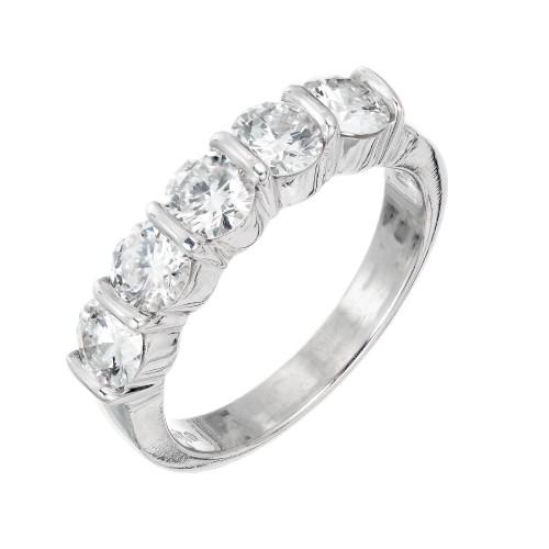 Gemlok 1.75 Carat Diamond Platinum Wedding Band Ring