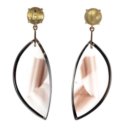 Peter Suchy 4.91 Carat Quartz Yellow gold Dangle Earrings