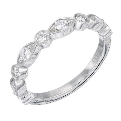 .44 Carat Diamond Platinum Wedding Band Ring