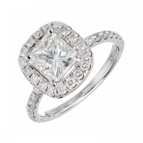 GIA Certified Peter Suchy 1.64 Carat Diamond Platinum Engagement Ring