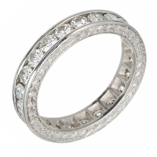 Peter Suchy 1.55 Carat Diamond Platinum Eternity Wedding Band Ring