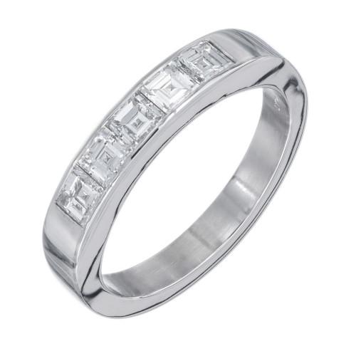 Peter Suchy .70 Carat Diamond Platinum Wedding Band Ring