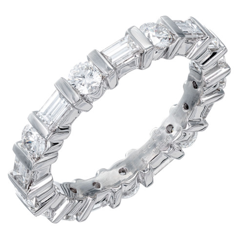 Peter Suchy 2.00 Carat Platinum Wedding Eternity Band