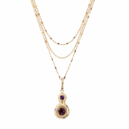 Robin Rotenier GIA Certified 1.32 Carat Spinel Sapphire Gold Pendant Necklace