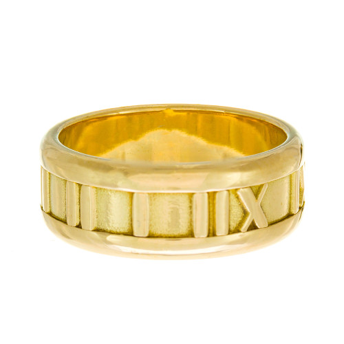 Tiffany & Co 18K Yellow Gold Atlas 7mm band. Size 6