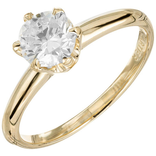 .50 Carat Diamond Yellow Gold Solitaire Engagement Ring
