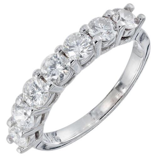 Peter Suchy 1.20 Carat Diamond Platinum Wedding Band Ring