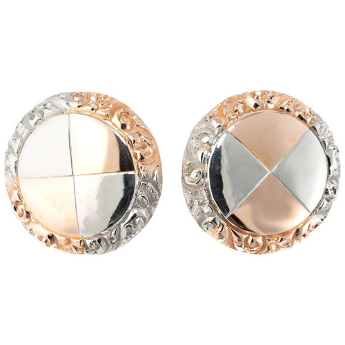Alling & Co 14 Karat Rose Gold Platinum Men's Cufflinks