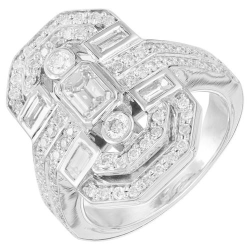 Kwiat 1.28 Carat Diamond White Gold Cocktail Ring