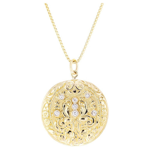 .26 Carat Diamond Yellow Gold Pendant Necklace