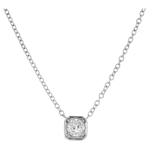 .77 Carat Diamond White Gold Pendant Necklace