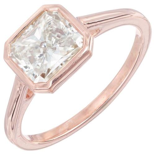 Peter Suchy GIA Certified 1.51 Carat Diamond Rose Gold Engagement Ring