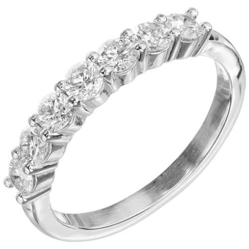 Peter Suchy .74 Carat Diamond Platinum Wedding Ring