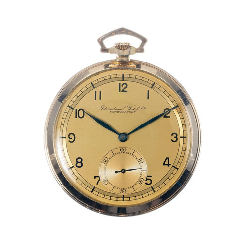 Vintage International Watch Company Yellow Gold Pocket Watch