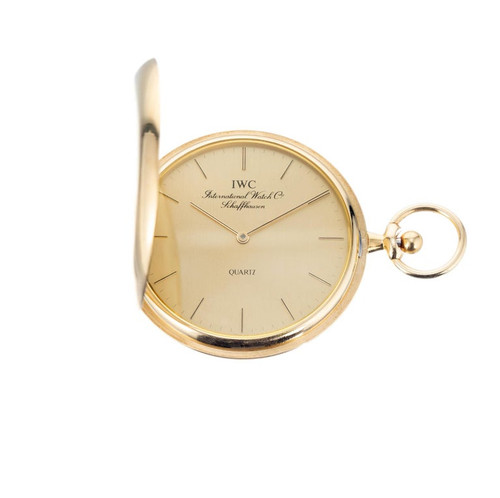 International Watch Company Yellow Gold Hunting Case Pocket Watch