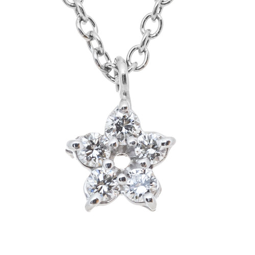 Peter Suchy .10 Carat Diamond Platinum Star Pendant Necklace
