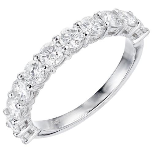 Peter Suchy 1.26 Carat 11 Round Diamond Platinum Wedding Band Ring