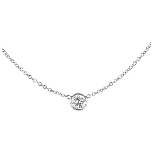.50 Carat Bezel Set Diamond Necklace