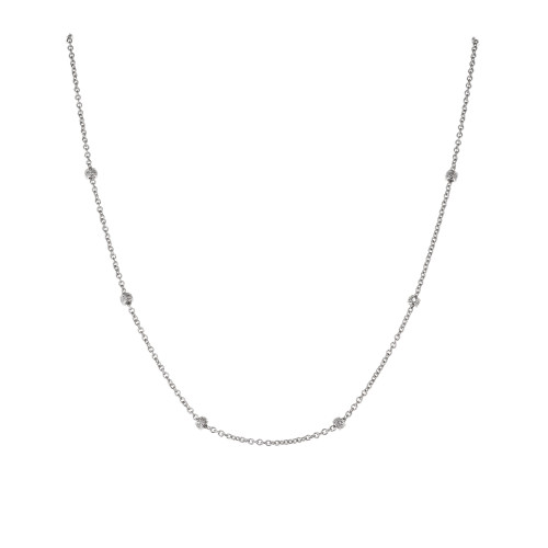 .30 Carat Diamond White Gold By the Yard Necklace