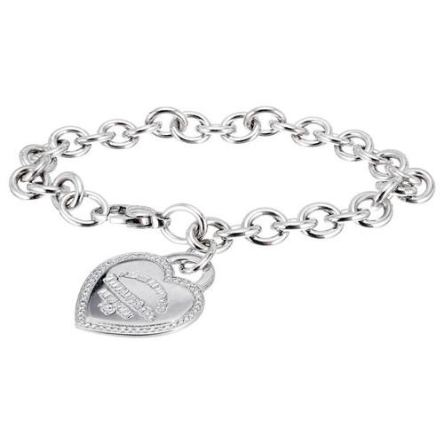 Tiffany & Co. Diamond Heart Tag Gold Bracelet