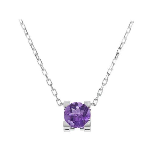 Cartier 1.00 Carat Purple Amethyst White Gold Pendant Necklace
