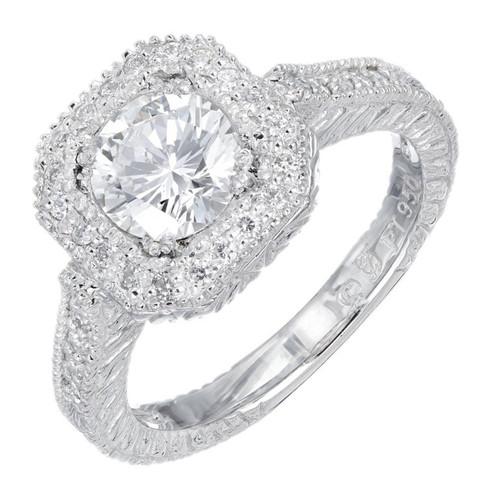EGL Certified 1.05 Carat Diamond Platinum Engagement Ring