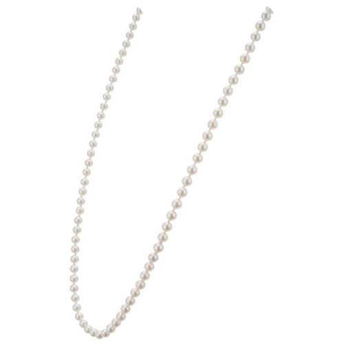 Mikimoto Cultured Pearl Yellow Gold Necklace