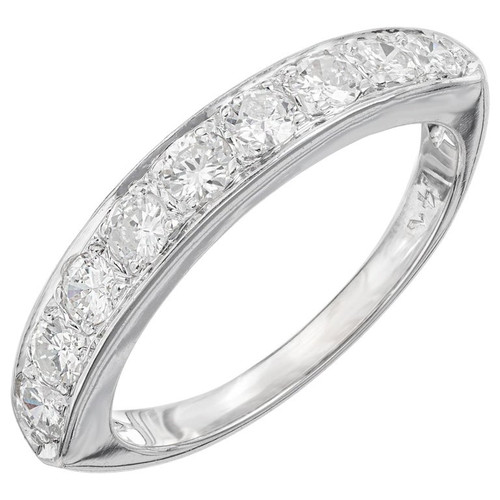 .54 Carat Diamond White Gold Wedding Band
