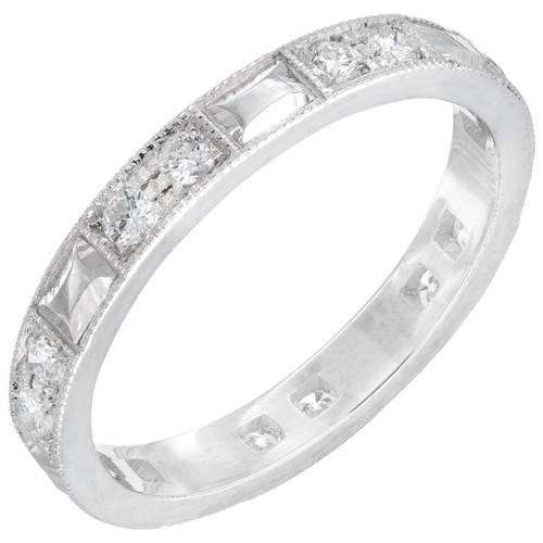Peter Suchy .40 Carat Diamond Platinum Wedding Band Ring