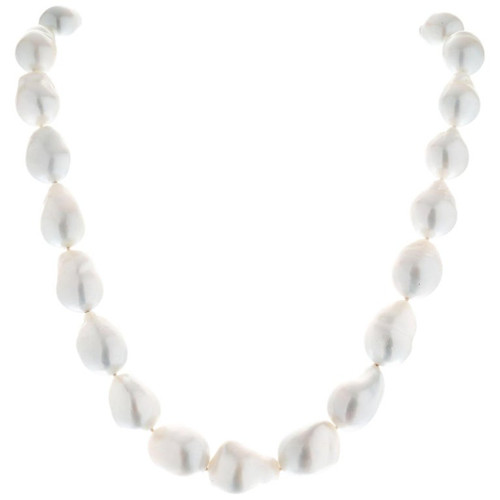 Mikimoto Baroque South Sea Pearl Gold Necklace