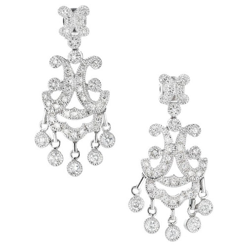 .79 Carat Diamond Chandelier Dangle Earrings