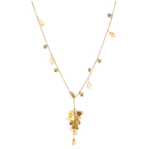 Marco Bicego 15.00 Carat Citrine Yellow Gold Lariat Necklace